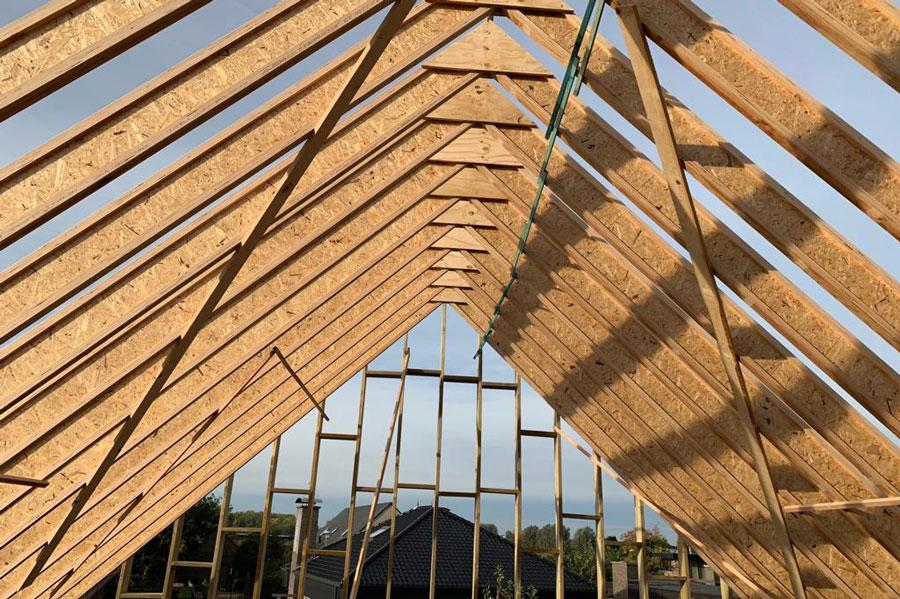 I-liggers, houten bio-ecologische dakconstructies